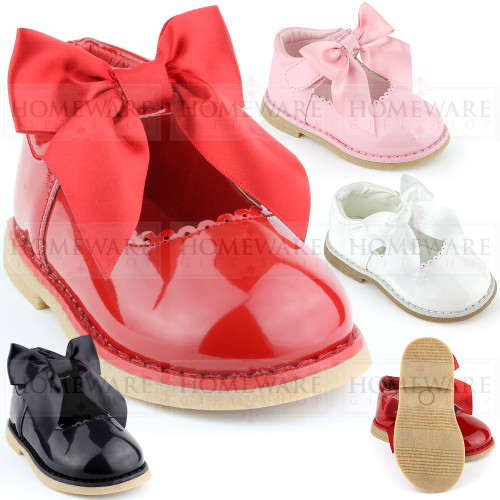 Baby Girls Spanish Style Bow Shoes Mary Jane Patent Shoes