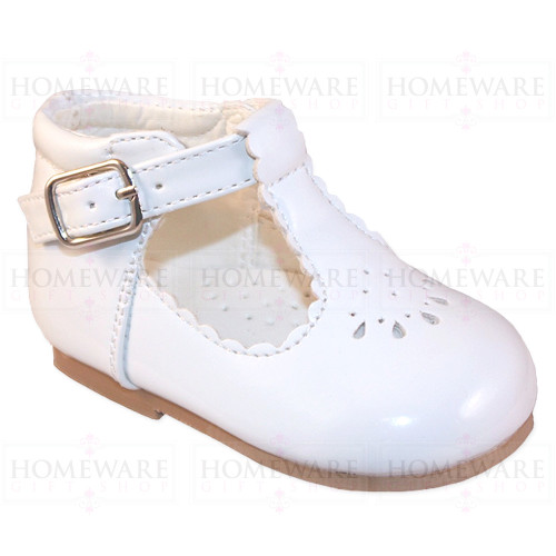 Baby Girls Spanish Tbar Shoe White Patent