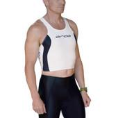 Men's Orca Swim Singlet - White/Black