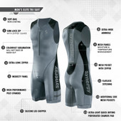 Men's Synergy Elite Tri Suit - Gunmetal