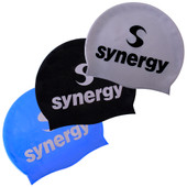 Silicone Swim Cap (3-pack) - Blu/Sil/Blk