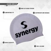 Silicone Swim Cap (3-pack) - Pin/Blk/Lav