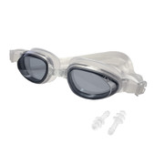 F2R Black Swim Goggles with Bonus Ear Plugs