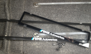 BMR Autowerkes Number Plate Frames