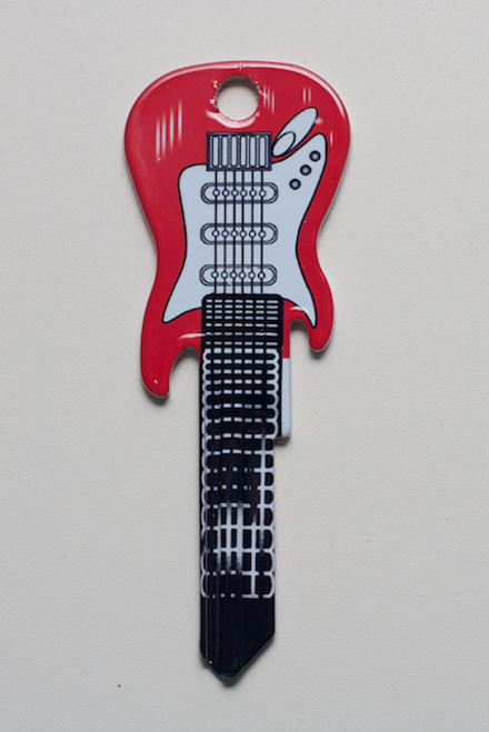 3664-RED ELECTRIC FENDER