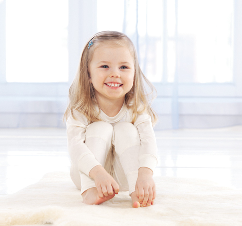 child's pure silk long underpants or pajama bottoms
