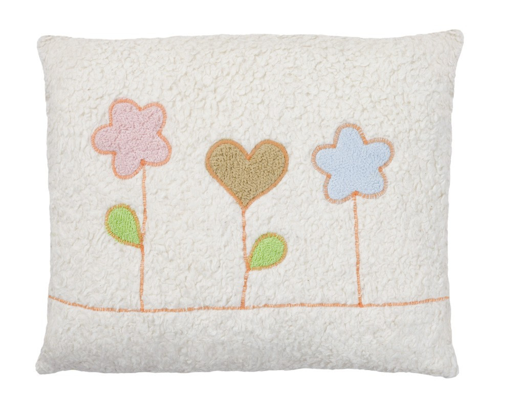 Organic cotton flower pillow, made in Germany.
