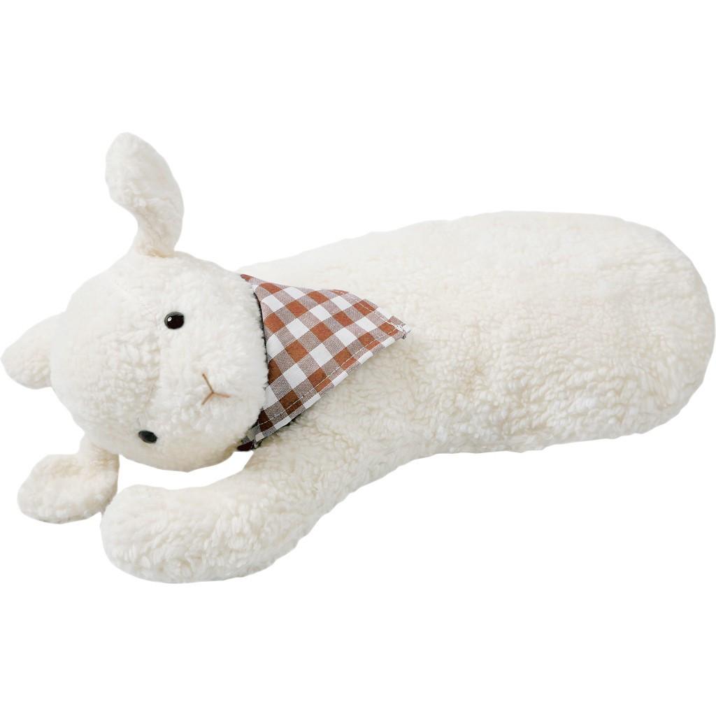 organic cotton and rubber hot water bottle lamb