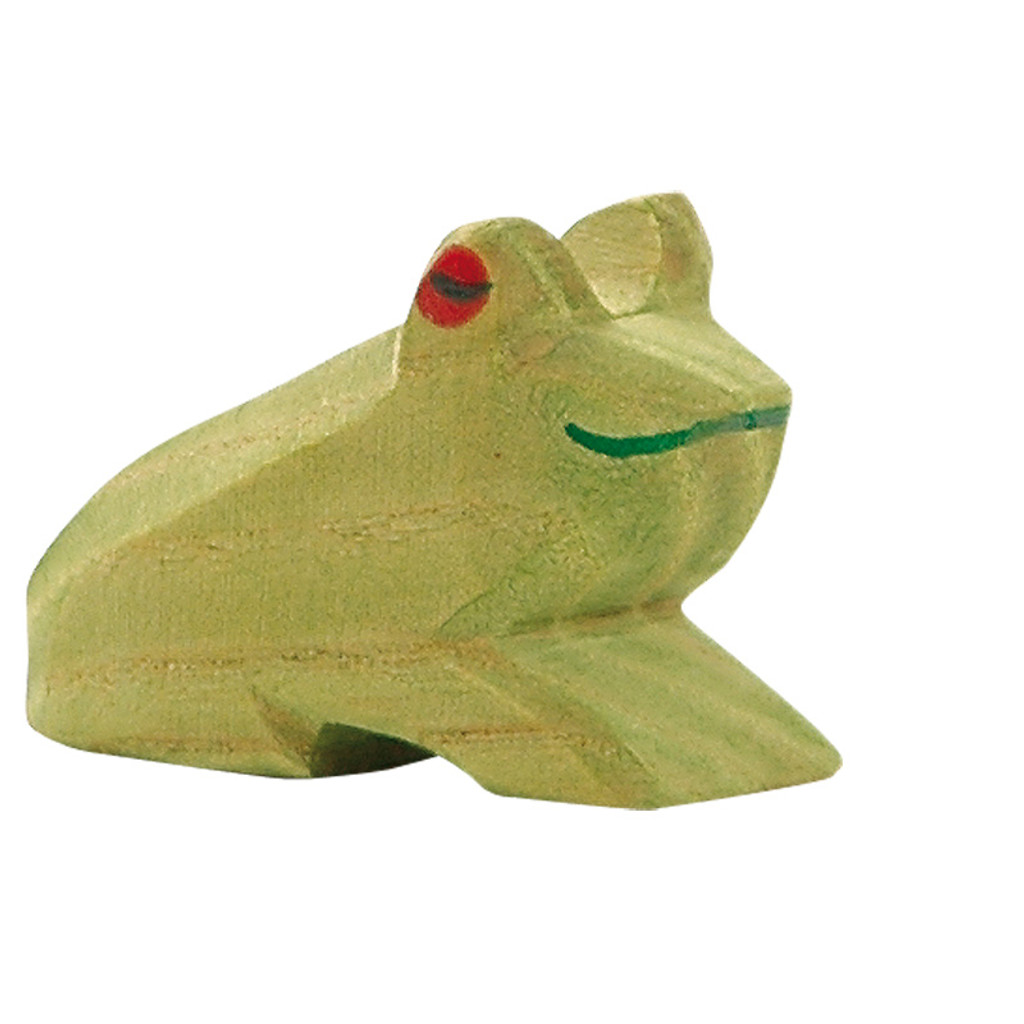 Ostheimer frog, 3 cm high.  Made in Germany.