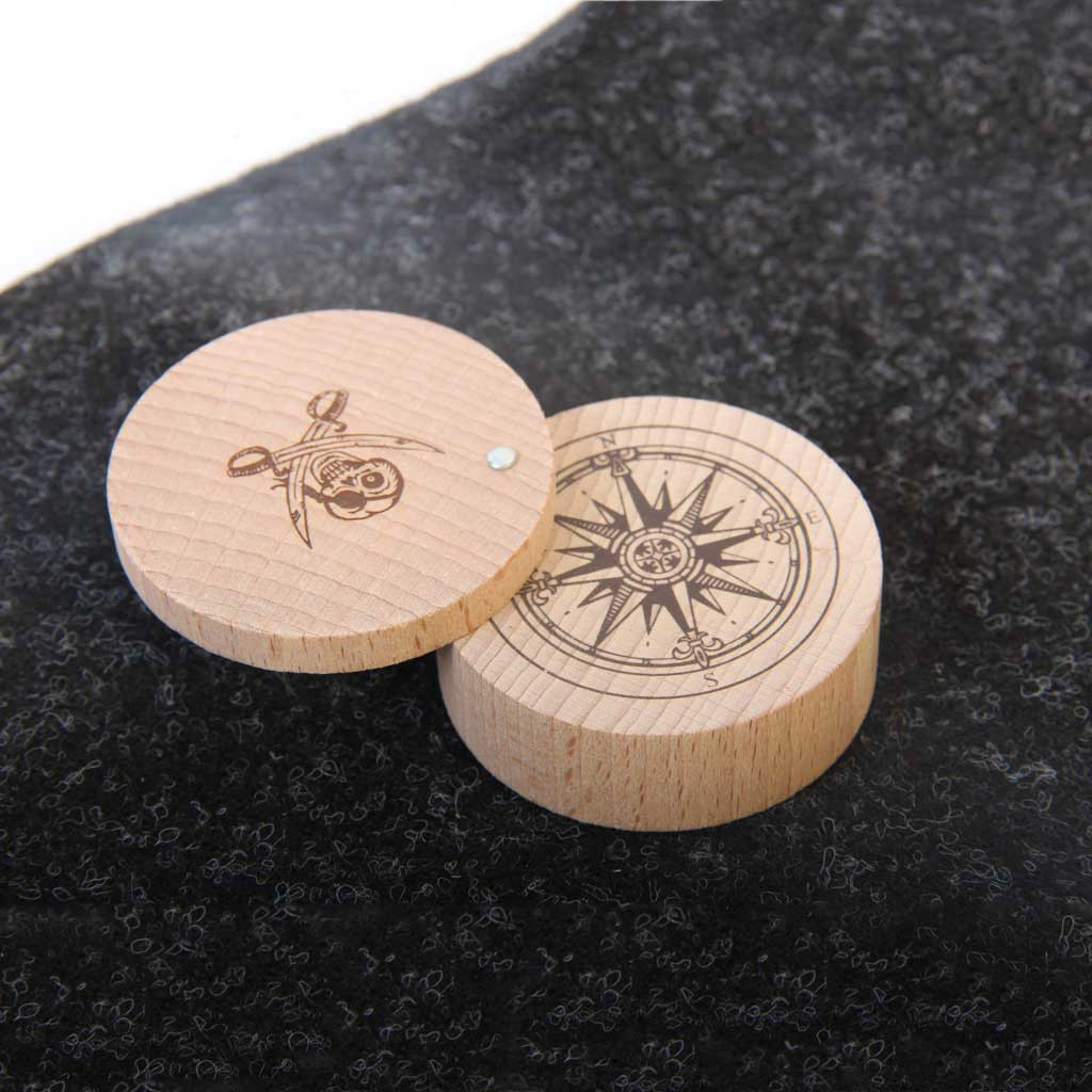 Wooden toy compass, from Vah Spielzeug.  Made in Germany.