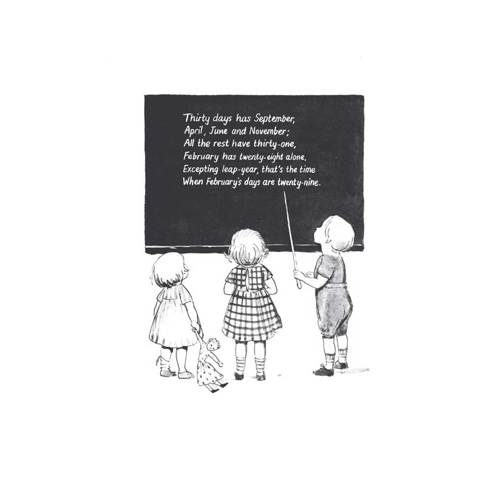 """Around the Year Mini-edition by Elsa Beskow, """"Thirty Days has September..."""""""