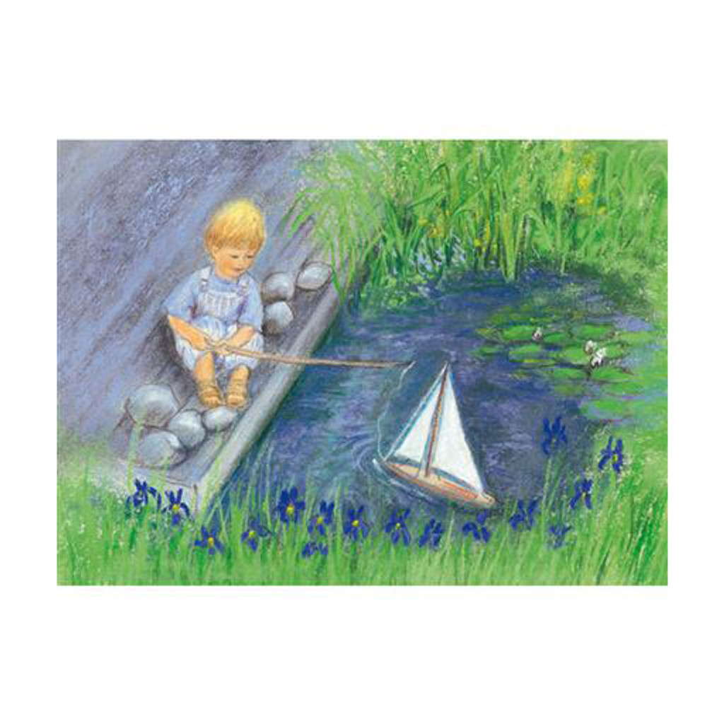 Sailing with my Boat postcard