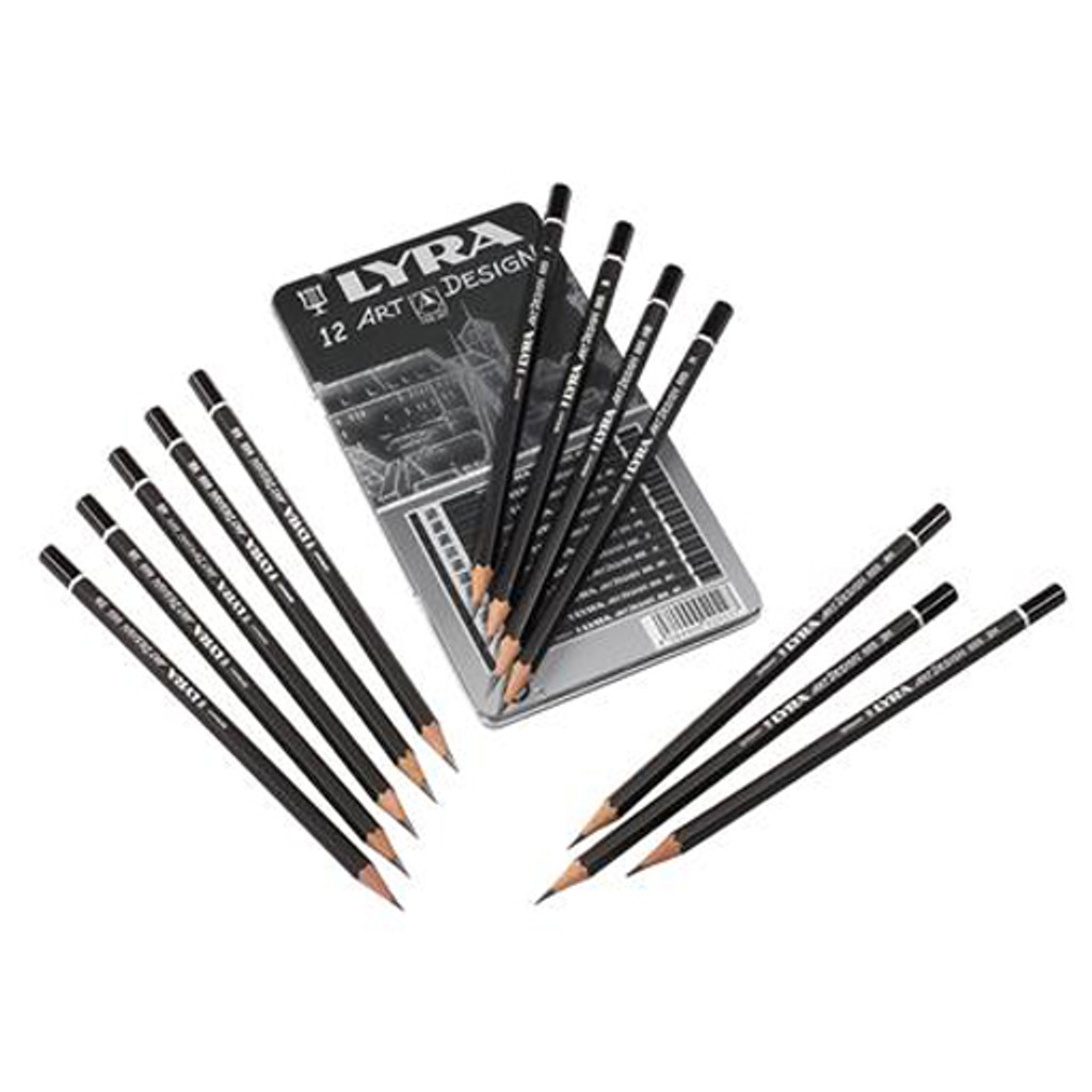 Lyra Assorted Sketching Art Design Pencils set (6B-4H)