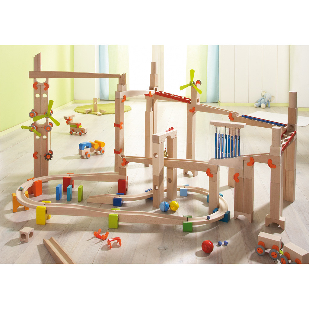 HABA Marble Run Ball Track Add-on, Clamps and Ramps