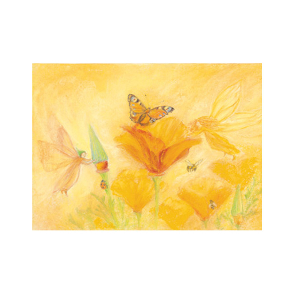 Sylphs help the Flowers postcard by M. v. Zeyl