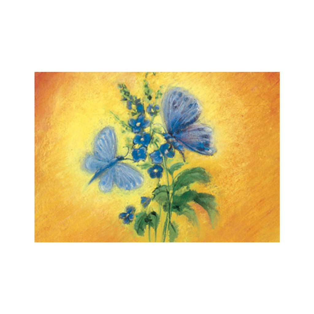 Blue Butterflies postcard by M. v. Zeyl
