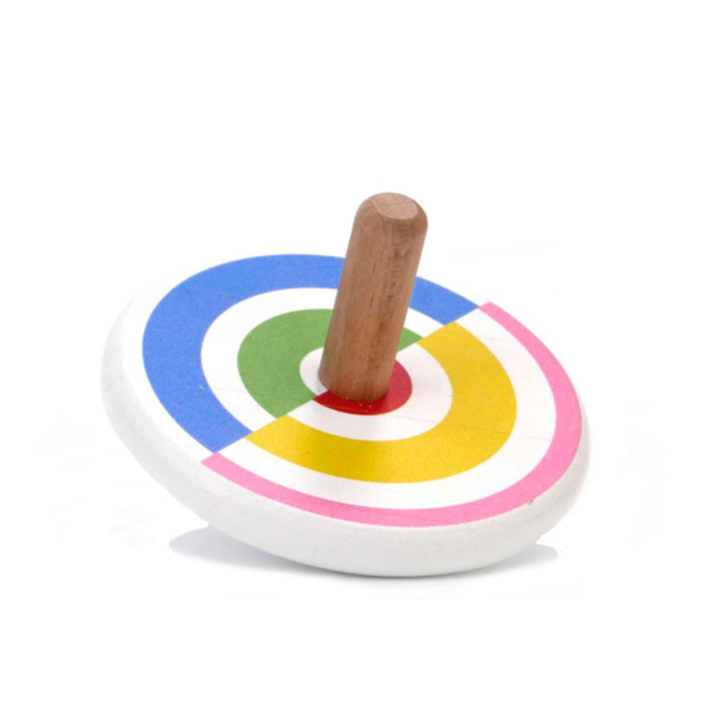 'Semi-circles' coloured spinning top