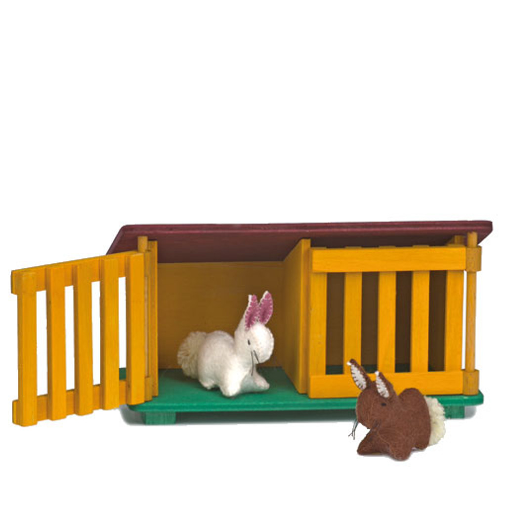 Glueckskaefer wool felt light brown rabbit