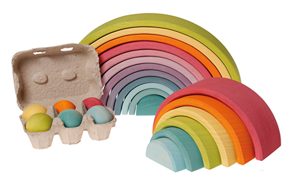 Grimm's 6 pastel wooden balls, single ball replacement