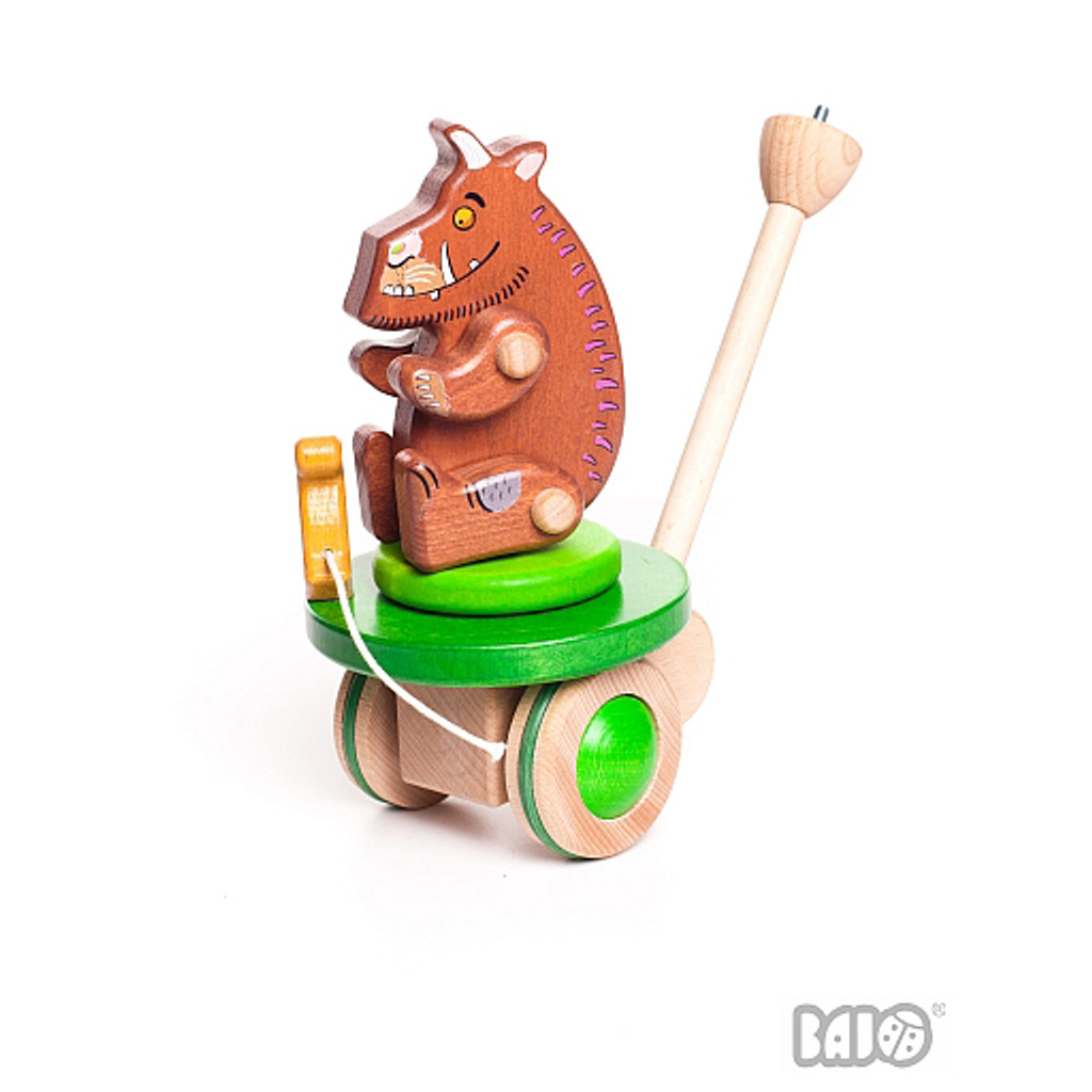 Bajo Gruffalo & Mouse push toy, with removable Gruffalo