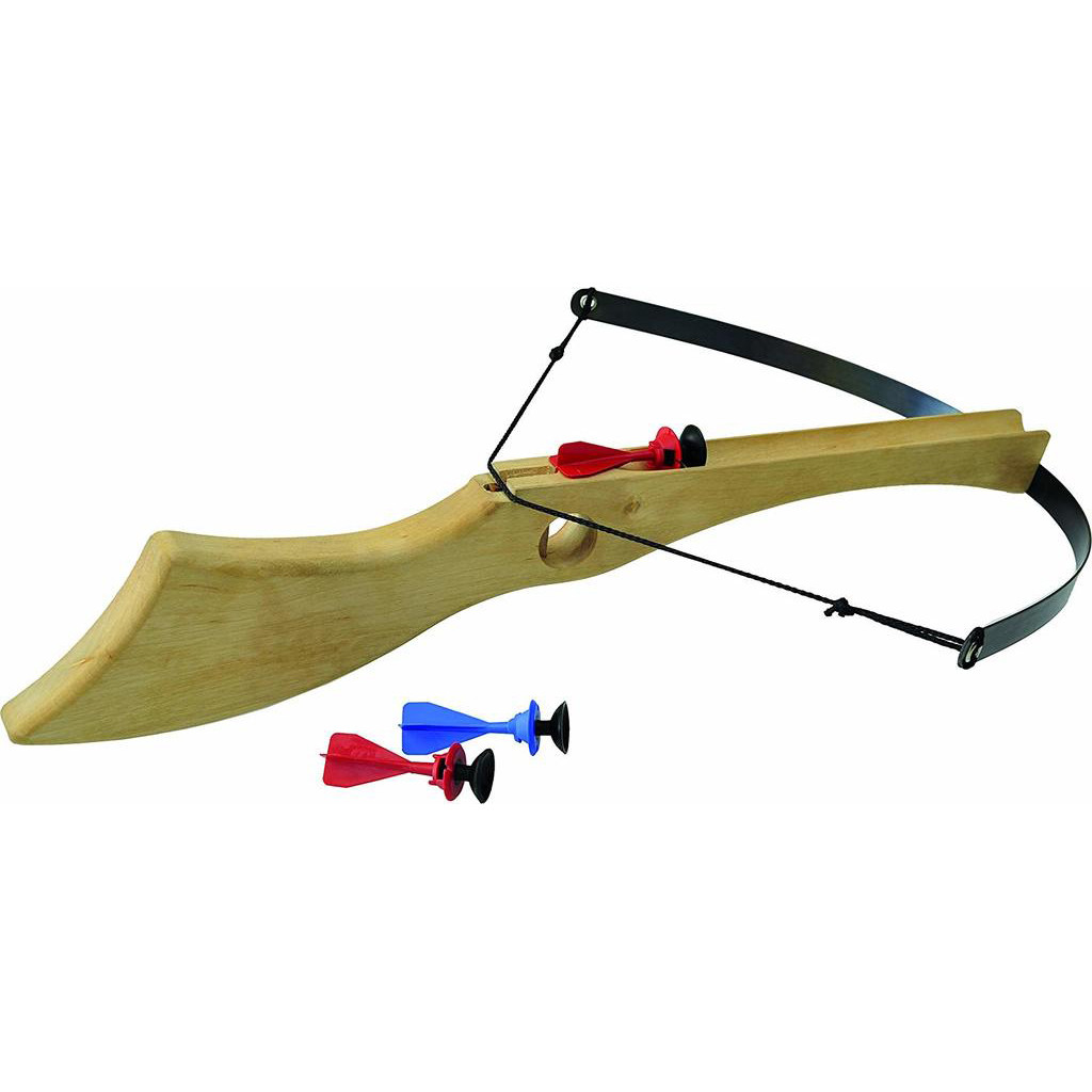 large wooden crossbow