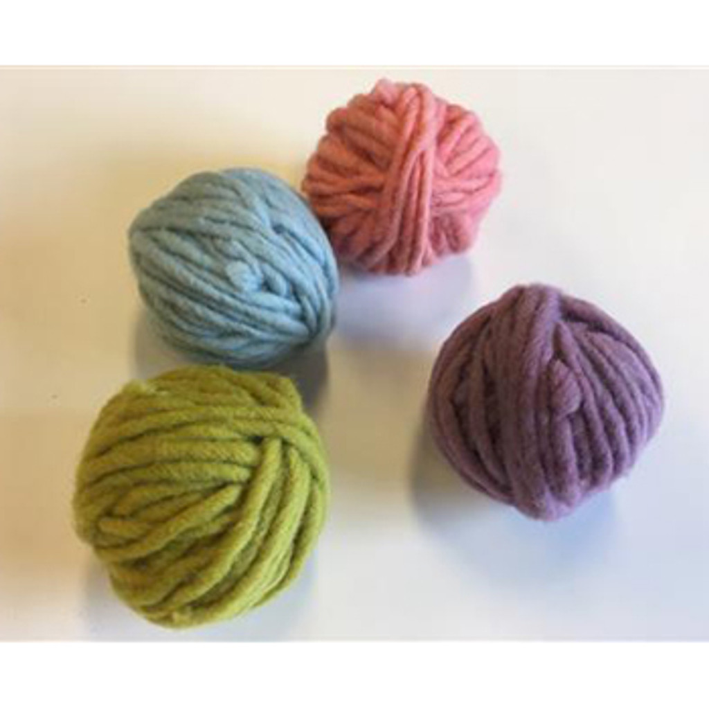 plant-dyed pastel wool weaving thread