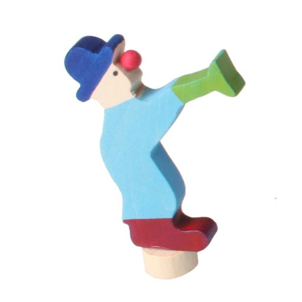 trumpeting clown ornament for birthday ring, needs gluing