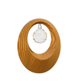 Swarovski crystal window hanging crystal with wooden circle