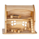 wooden toy fairy tale cottage with fairy tale cottage furnishings