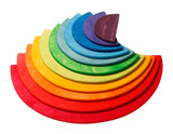 Grimm's semi-circles for large rainbow