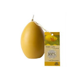 Dipam beeswax candle, large egg shaped