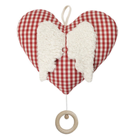 organic cotton heart with wings music box