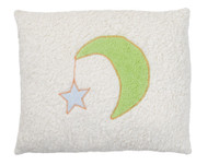 Organic cotton moon pillow, made in Germany.