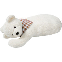 organic cotton and rubber hot water bottle bear