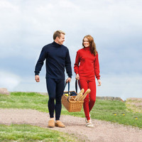 unisex organic wool turtleneck polo shirt (special order)