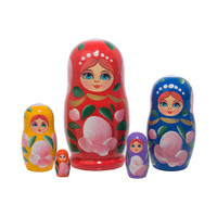 Matryoshka dolls.  Made in Russia.