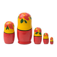 Traditional Semenov Matryoshka dolls set