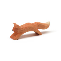Ostheimer squirrel running.  New version May 2017.  3 cm high x 8.5 cm long.  Made in Germany.