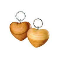wooden heart key ring