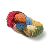 Filges silk & wool blend Bioland plant-dyed rainbow yarn