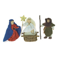 soft wool and felt Nativity doll set