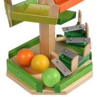 stepped large wooden ball tower