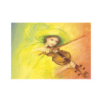 Play the Violin postcard by M. v. Zeyl