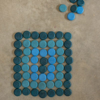 Grapat Wood Mandala Mini Coins, 36 pc (blues)
