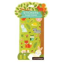 forest friends stickers, with veg inks