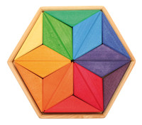 Grimm's large rainbow star puzzle