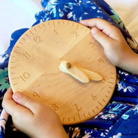 toy clock, hours only