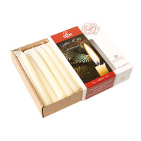 100% beeswax candles 13 mm diameter, white