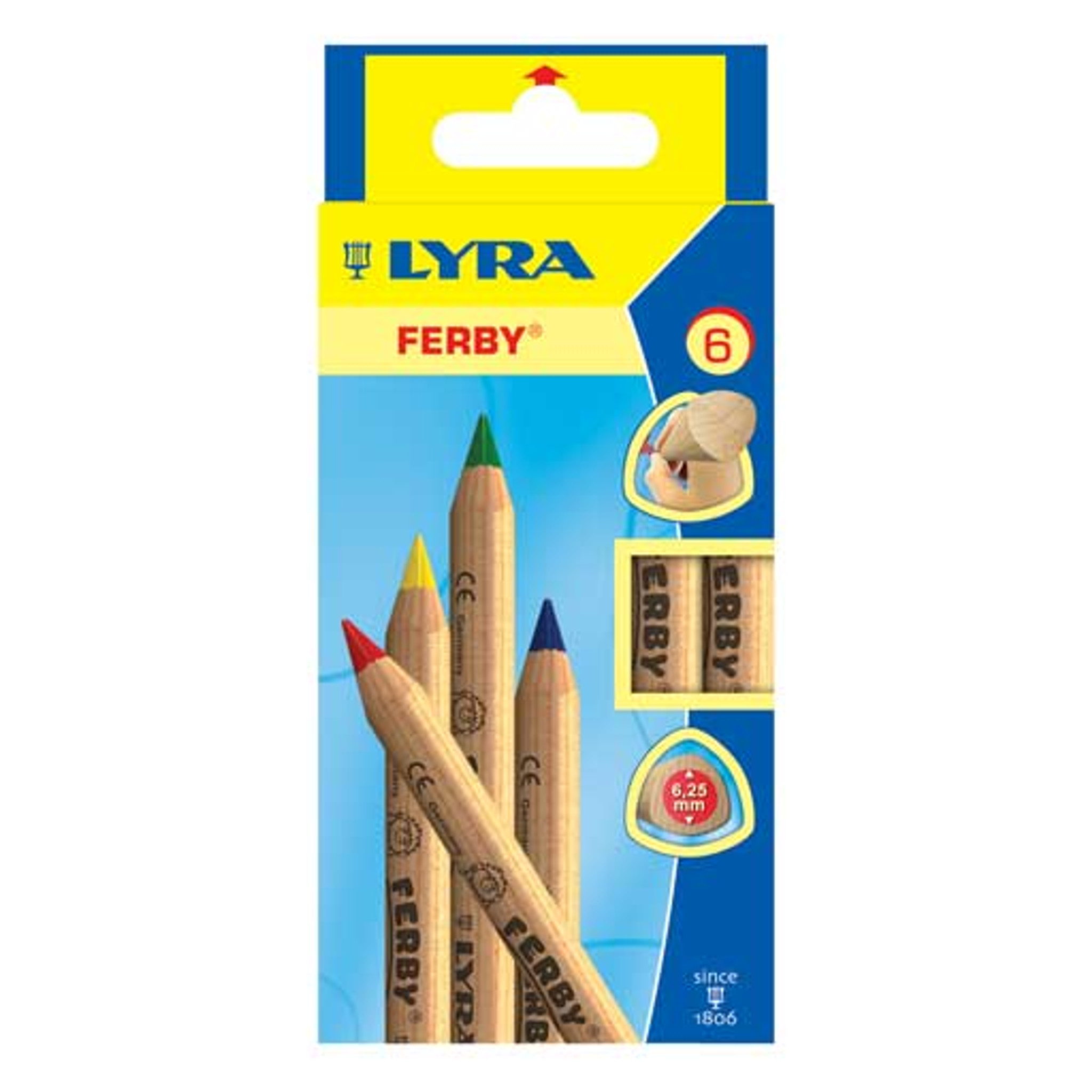 6.25mm Lead Core S Lacquered LYRA Super Ferby Giant Triangular Colored Pencil