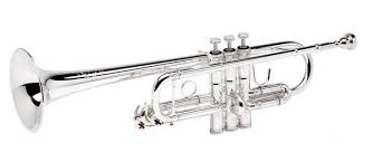 Trumpet C, Model 3136/2H in Silver Plate by B&S